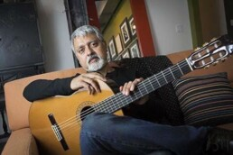 Fareed Haque, jazz and classical guitar player from Chicago, Illinois.