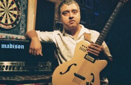 Image of Fareed Haque with Madison amplifier.
